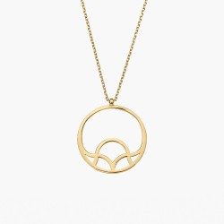 GALIANA CIRCLE PENDANT NECKLACE