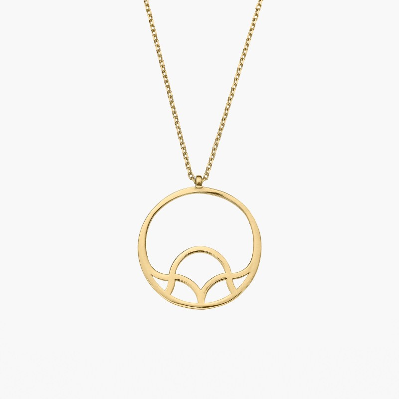 Tartesia: GALIANA CIRCLE PENDANT NECKLACE - Hiphunters Shop